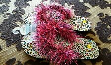 NEW Fluffy Flip Flops YouthSize 4/5 X-Small Beachwear Sandals