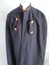 true vintage navy blue red felted wool nurse midwife hospital uniform cape Large