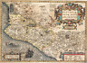 TREASURE MAP MEXICO 1606 HD COLORED 1715 FLEET AREA PIRATE GOLD COINS ATOCHA ERA