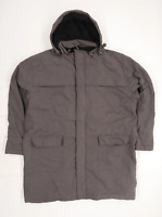 Cotton Traders Mens Size 2XL Cotton Blend Grey Hooded Coat