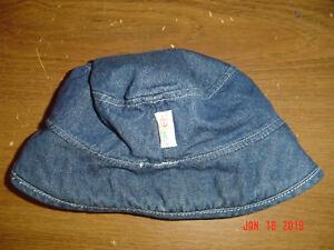 Girl's DISNEY BABY Denim Blue Jean Bucket Sun Hat FC379