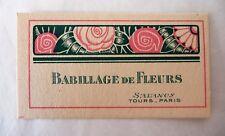 "ANCIENNE CARTE PARFUMEE ""BABILLAGE DE FLEURS"" DE LA PARFUMERIE SALANCY / 2"