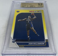 ZION WILLIAMSON RC 2019-20 Panini Hoops #258 RC YELLOW BGS 9.5 GEM MINT PELICANS