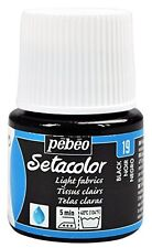 Pebeo Pebeo Setacolor Light Fabric Paint 45-Milliliter Bottle, Black,Black