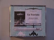 VERDI-LA TRAVIATA-MONTSERRAT CABALLE-GEDDA-BRAUN-CILLARIO-LIVE 1972-RARE 2 X CD