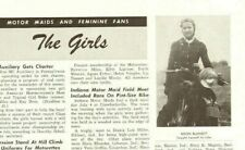 1949 Motor Maid, Helen Blansitt - 1-Page Vintage Motorcycle Article