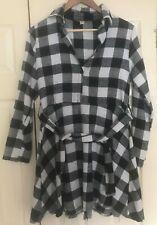 Black and White Checkered Dress - S