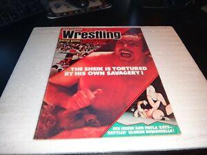 ben strong wrestling magazine december 1974 the sheik women autographed wwf nwa