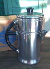 NOS WEAR-EVER Drip-O-Lator Aluminum COFFEE POT No 966 TACUCO 1954 Unused Rare