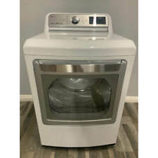 Lg - 7.3 Cu. Ft. 14-Cycle Gas Dryer with TurboSteam - White