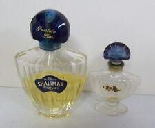 Vintage SHALIMAR Guerlain Cologne & Extra Empty Bottle