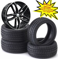 """18""""rs6 c black pol alloy wheels vw golf audi/vw/tt/t4/a4/a3/a6/skoda with tyres"""