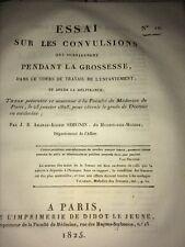 CONVULSIONS QUI SURVIENNENT PENDANT LA GROSSESSE. 1825- MÉDECINE