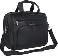 """Kenneth Cole Reaction Colombian Leather Dual Compartment Expandable 15.6"""" Laptop"""