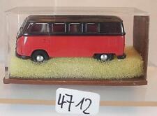 Brekina 1/87 Volkswagen Bulli VW T1a Bus rot/schwarz OVP #4712
