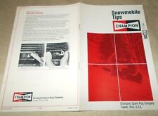 New ListingVintage Snowmobile Tips Manual by Champion Spark Plug Co. Form No A-738 371100