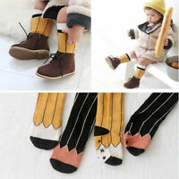 Kids Cotton Baby Soft Girl Pencil Pattern Leg Warmers Tube Socks Knee Socks