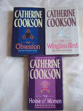 Catherine Cookson THE HOUSE OF WOMEN + WINGLESS BIRD + OBSESSION - 3 Hardbacks