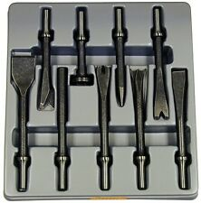"ATD 9pc Air Hammer Chisel/ punch/ Cutter Bit Set with .401"" Shank #5730"