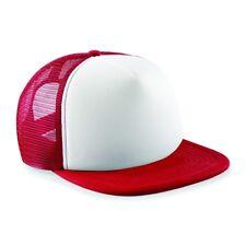 Kids Personalised VARSITY Printed Half Mesh Baseball Trucker Rapper Cap Hat