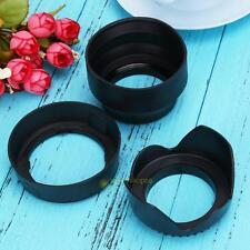 52mm Lens Hood Bundle Set for Nikon 18-55mm HB-45 + Rubber Collapsible+ Flower