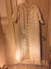 VTG Silk & Rayon Maxi Coat ROBINSON'S BRITISH CROWN COLONY Hong Kong  Size 12-14