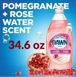 Dawn ULTRA Dish Soap 34.6oz Bottle Pomegranate & Rose Water 2X More Power 1 Pack