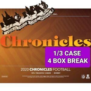 NEW ENGLAND PATRIOTS 2020 CHRONICLES FOOTBALL HOBBY 1/3 CASE 4 BOX BREAK #3