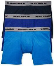 """NEW 3-PACK MENS UNDER ARMOUR BOXERJOCK COTTON STRETCH 6"""" BOXER BRIEFS * SMALL"""
