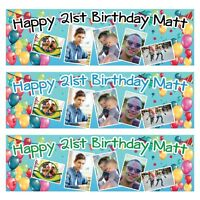 PERSONALISED BIRTHDAY BANNER BALLOON 1st 18th 21st 30th 40th-any name age