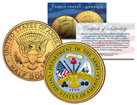 United States ARMY * Emblem * 24K Gold Plated JFK Half Dollar U.S. Coin MILITARY