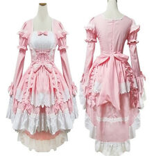 Fancy lolita Princess Dress Maid Outfit Anime Cosplay Costume Party Halloween