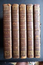 THE HISTORY OF ENGLAND TOBIAS SMOLLETT 5 VOLS PUB 1805 LEATHER GOOD CONDITION