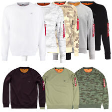 Alpha Industries Men's Sweater x-Fit Slim Fit With Hang Tag XXS To 3XL