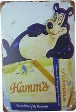 "Hamm'S Hamms Beer Bear Sky Blue Waters Retro Tin Metal Sign Bar Pub 8x12"" New."