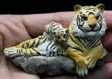 Tiger mother Child Resin 3D Fridge Magnet craft Handmade Animal Collectibles New