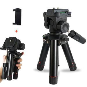 Mini DSLR Camera Tripod Desktop Stand Smartphone Holder Clip For Live Streaming