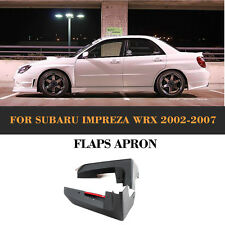 Unpainted PU Front Splitter Side Skirt Cover Trim For Subaru Impreza WRX 2002-07