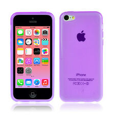 PURPLE SWEET COLOUR JELLY CASE COVER For iPhone 5 C 5C
