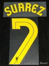 Liverpool Suarez 7 Uefa Europa League Football Shirt Name Set Away