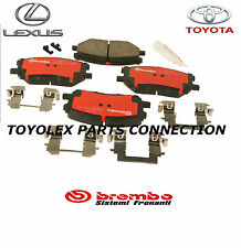 LEXUS RX330 RX350 RX400h FACTORY BREMBO FRONT BRAKE PADS W/CLIPS 04465-48100