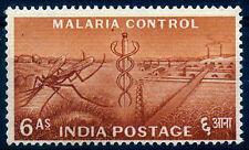 INDIA 1955-6 Anna-Malaria Control-Health-F.Y.P Series-1 Value-MNH