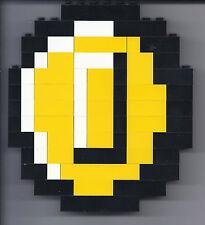 Lego Custom Coin Nintendo Pixelated Mosaic Super Mario Bros Brothers Art NES