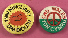 More details for 2x welsh ydn cymru pin badges - cnd campaign anti nuclear wales
