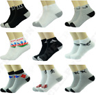 3-12 Pairs Mens Athletic Work Sports Ankle Socks Cotton Casual Size 9-11 10-13