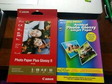 "Canon Photo Paper Plus Glossy II and Ritz Big Print  4"" x 6"" - 35 sheets total"