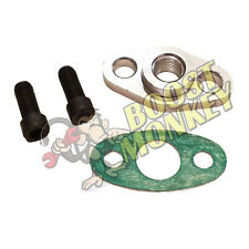 Turbo Oil Feed Flange 1/4 NPT Gasket Adapter T4 Turbocharger Aluminum Fitting