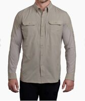 Kuhl Men's Airspeed Button Down Long Sleeve Khaki Vented Shirt Size L