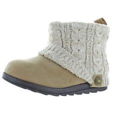 Muk Luks Womens Patti  Tan Knit Winter Boots Shoes 10 Medium (B,M) BHFO 7004