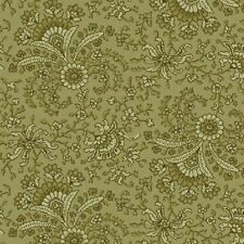 Green Fan Floral, Secrets & Shadows Collection, Nancy Gere, Windham (By 1/2 Yd)